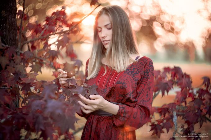 Natalia and the fall by AntonioPedroniPhoto - People With Bokeh Photo Contest