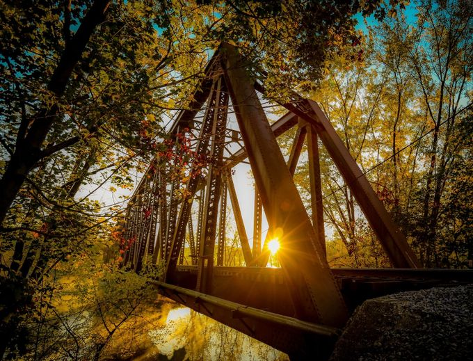 Sunrise over the bridge  by ZsebArt - Spectacular Bridges Photo Contest