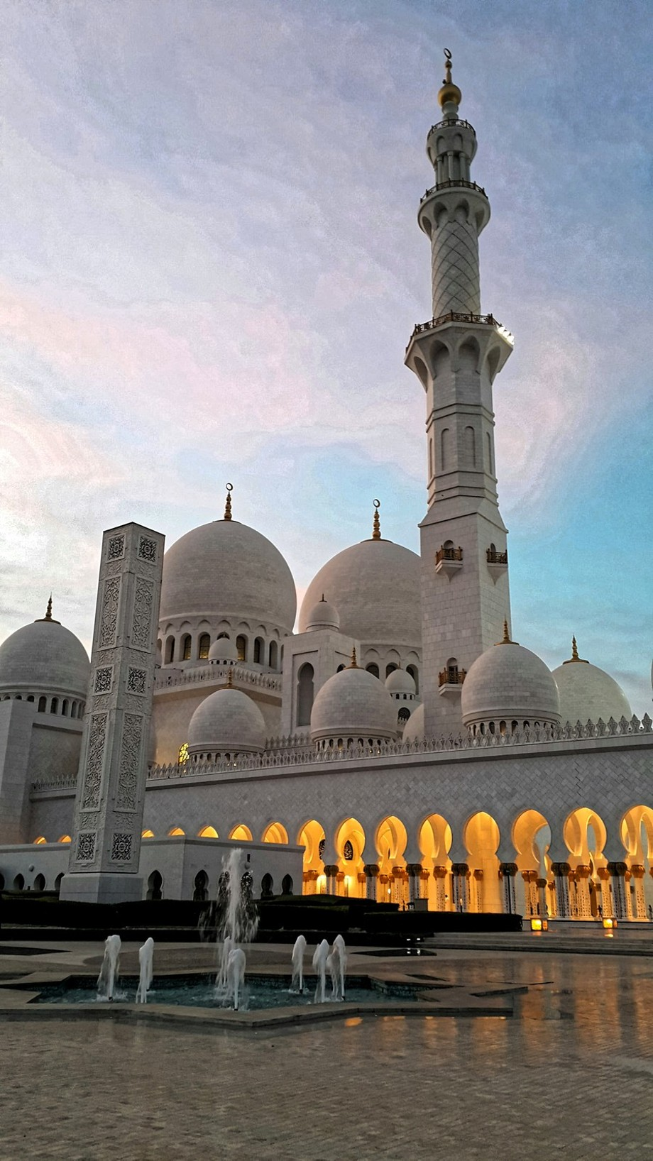 Picture taken in Abu Dhabi. United Arab Emirates. Sheikh Zayed Mosque.