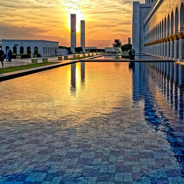 Picture taken in Abu Dhabi. United Arab Emirates. Sheikh Zayed Mosque.