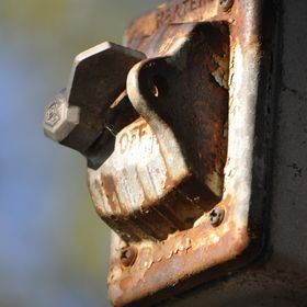 I shot this old rusty switch at a paintball park. I thought it had a lot of character.