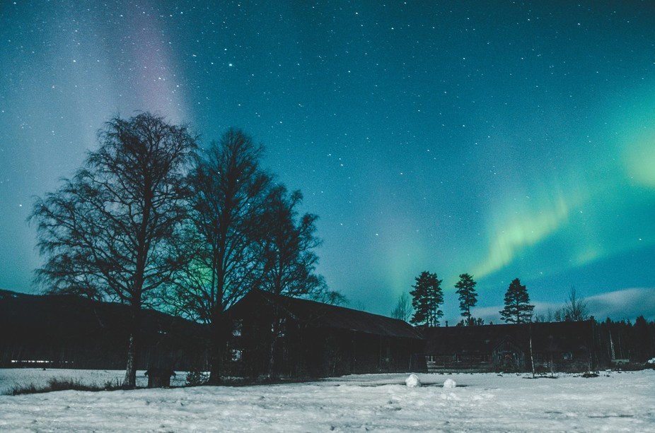 First time seeing the nothern lights, at my grandmothers farm.