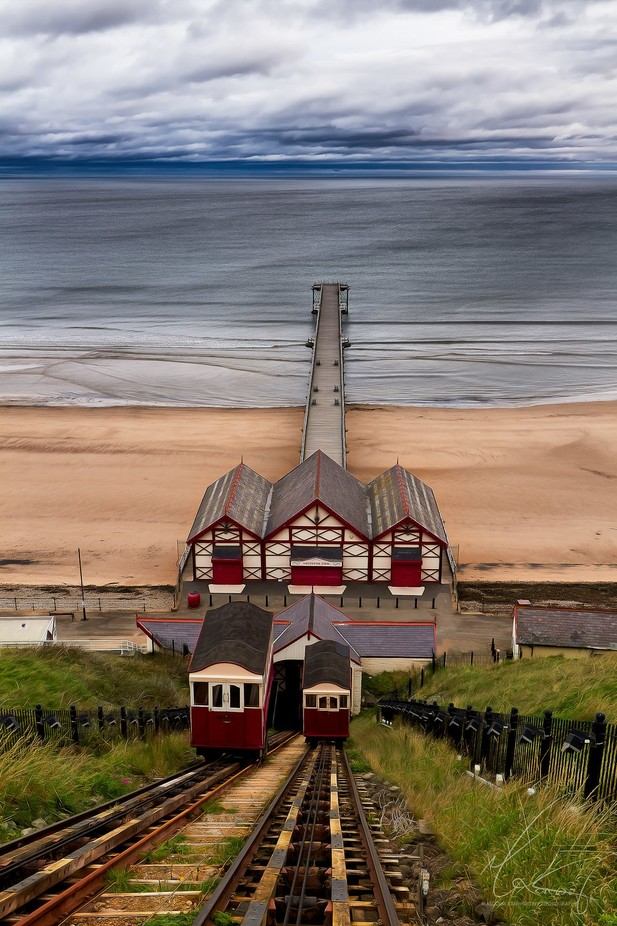 Saltburn Cliff Lift by zhaoqingMal - Landscapes And Sand Photo Contest