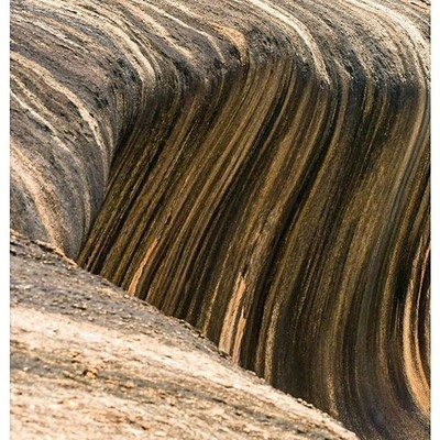 Wave rock from above
