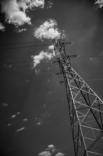 Steel electric pole