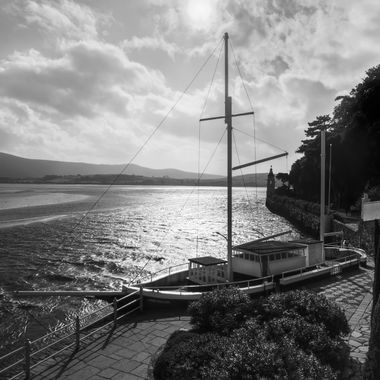 "The Amis Reunis is a folly ""yacht"", built as part of the promenade at Portmeirion. It is a part of the overall aura of the village."