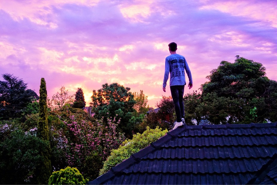 Sunset On The Roof.