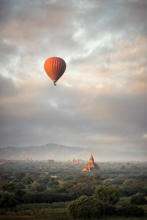 Sunrise in Bagan  by Remco_van_Adrichem - Show Balloons Photo Contest