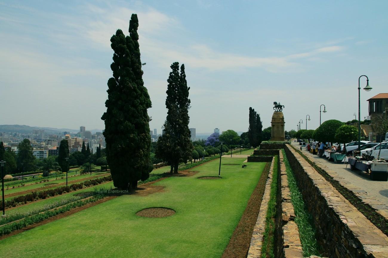 Gardens at the Union Buildings, Pretoria, South Africa.