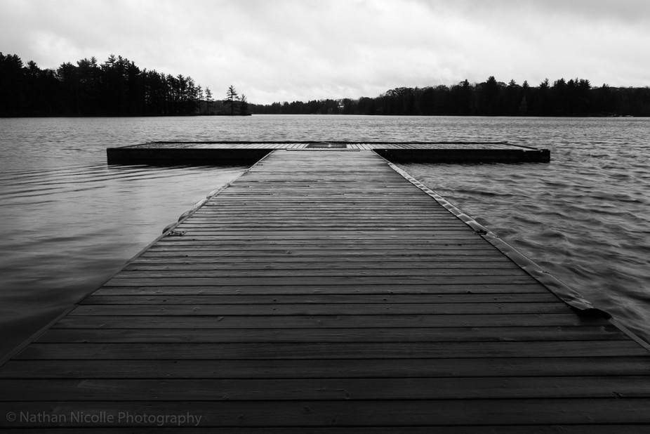 I came across this lonely boardwalk up north in Ontario. The scene was shot in the morning.