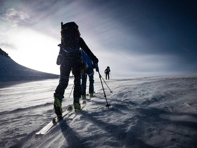 Ski Touring in the Wind