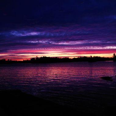 Sunrise on Rainy Lake
