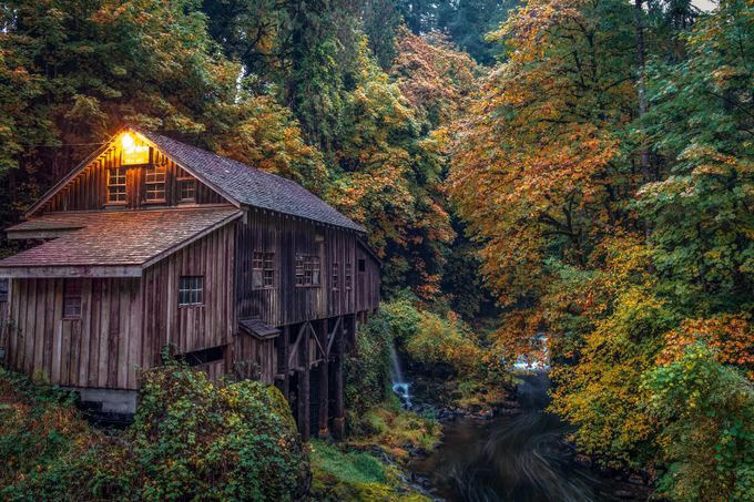 Dusk at the Mill by pacificrain - The Brown Color Photo Contest