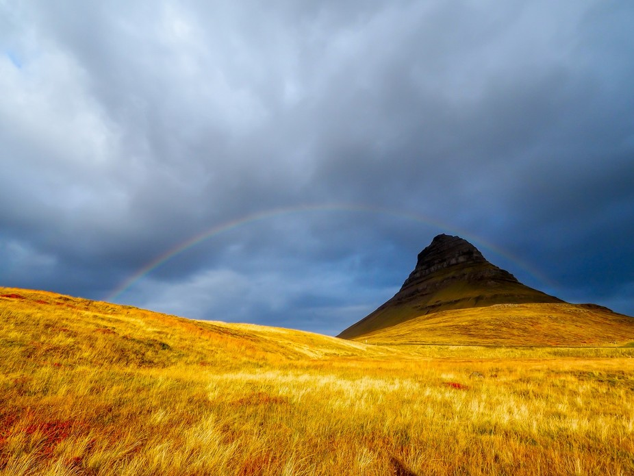 Beautiful Kirkjufell in Iceland.
