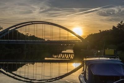 Sunset Mittellandskanal