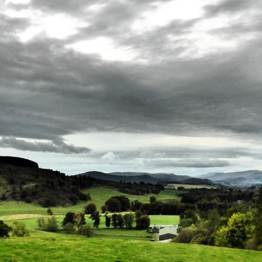Tayside Hills on a Grey Day