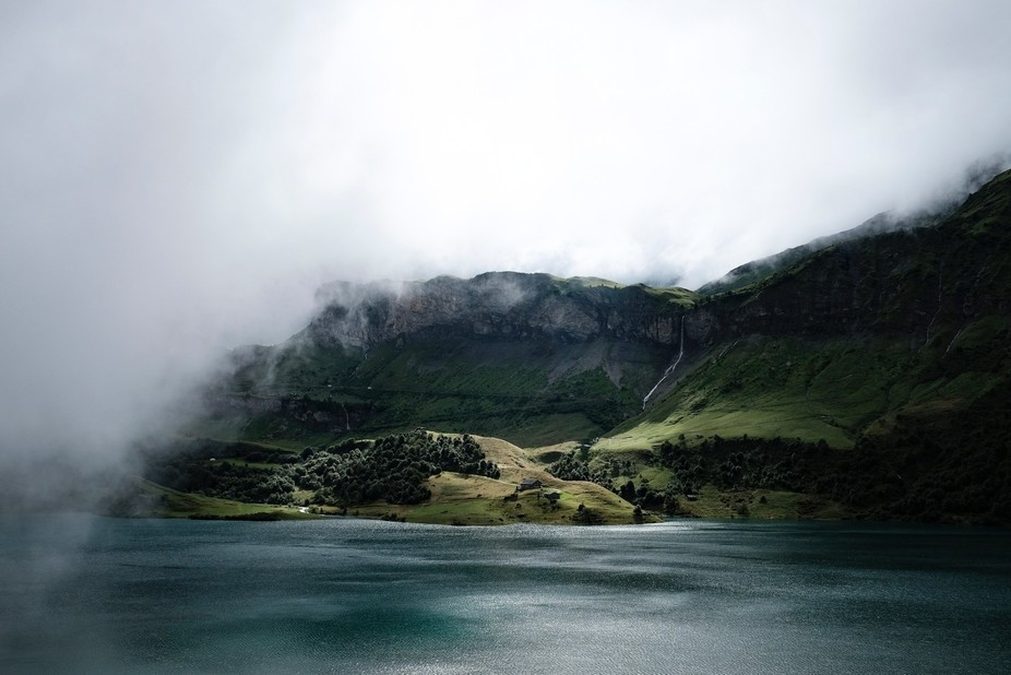 This photo I made during a trip to Ireland, the mist was very thick but we could see a window tha...