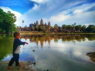 Fishing @ Angkor Wat