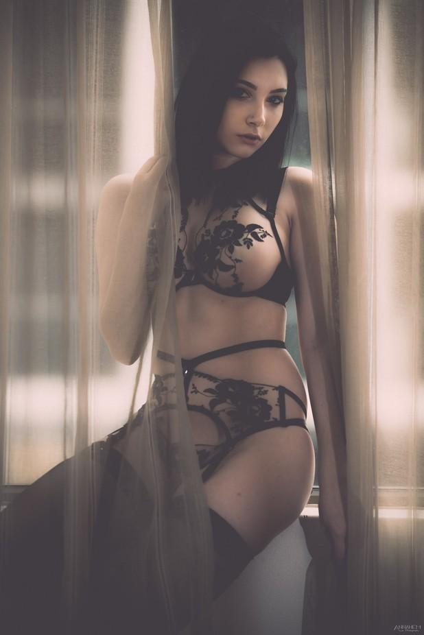 Sexy in Black by Annahem - Tasteful Boudoir Photo Contest