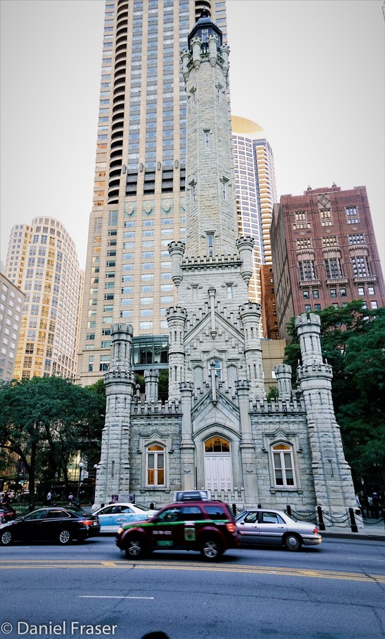 Beautiful architecture from the past among so many modern towers. Chicago such a beautiful American City!!  Fourth Presbyterian Church, called the Light in the City since 1871, on Chicago Chestnut Street.