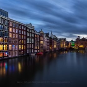 A beautiful long exposure shot of this iconic place in Amsterdam city in the Netherlands.