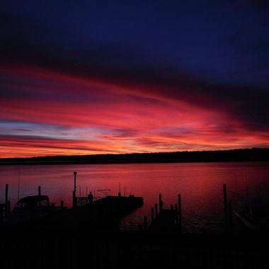 Sunrise shot out of Ballard's Resort, Baudette, Mn. Nikon Coolpix 6500