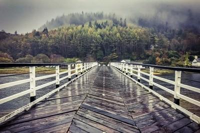 Penmaenpool toll bridge Mid Wales