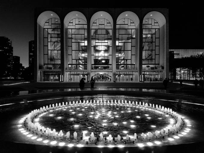 Lincoln Center lit up at night by Srini_Photo_Art - New York Photo Contest