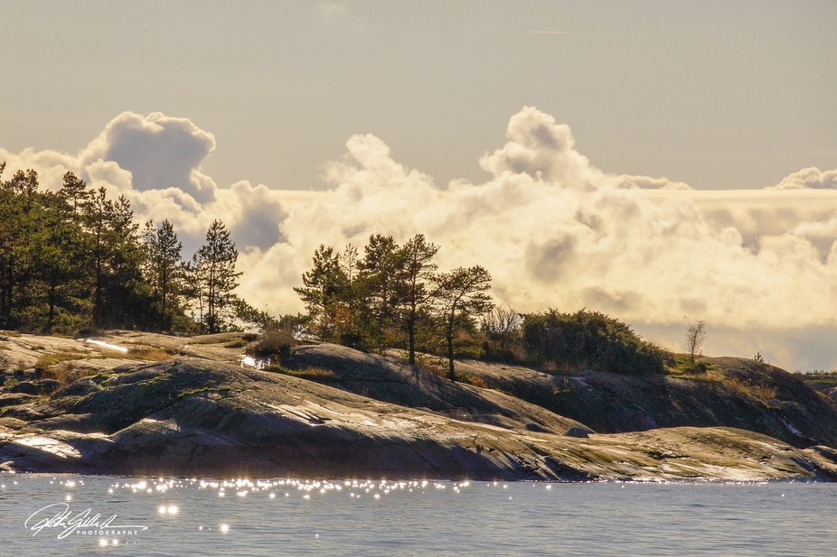 View from Porkkalanniemi in southern Finland in October, a rare sunny day.