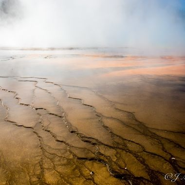 Mist From the Geyser Waters of Yellowstone