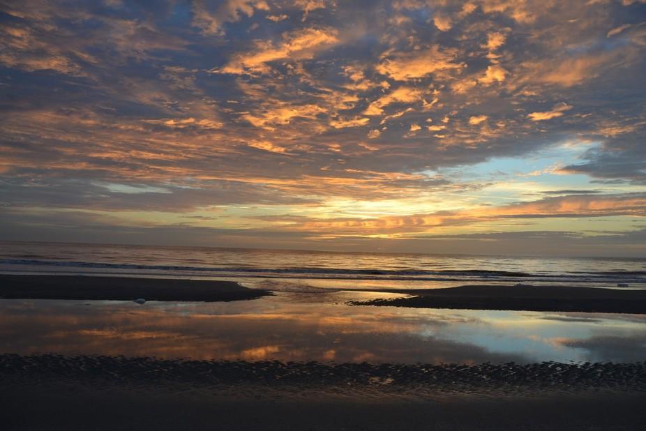 First sunrise of 2017 taken from the beach on Jekyll Island GA.