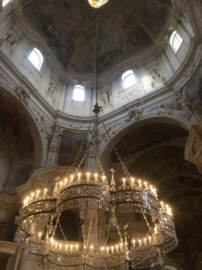 Inside one of the many churches in Prague.