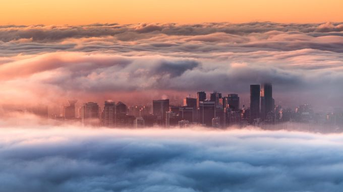 Foggy Sunrise - Vancouver by bowen-pete - Fog And City Photo Contest