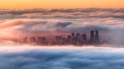 Foggy Sunrise - Vancouver