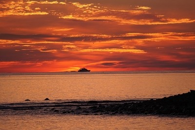 Sunrise at sand hills