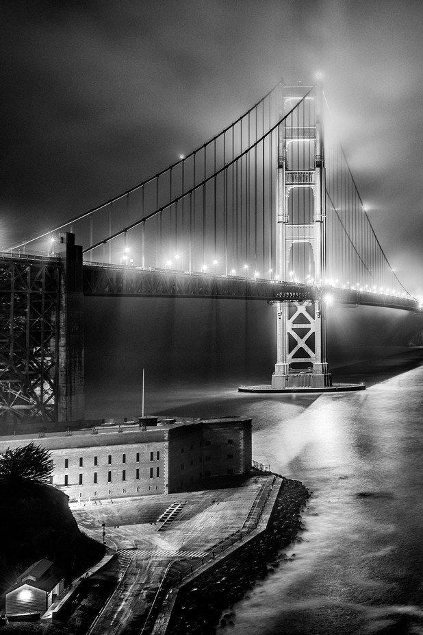 Foggy Golden Gate Bridge by ChasingLightLikeMad - Fog And City Photo Contest