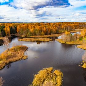 Colorful lakes in Lithuania