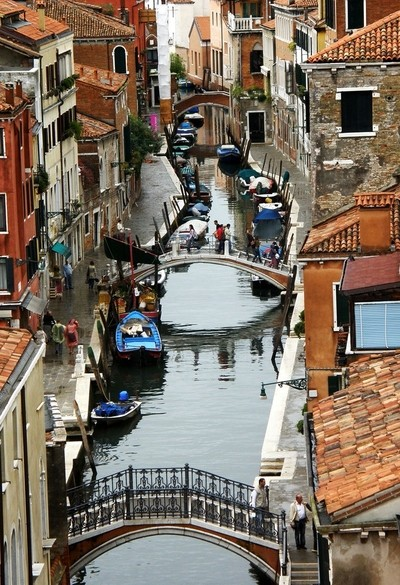 A Venice Palace Canal View