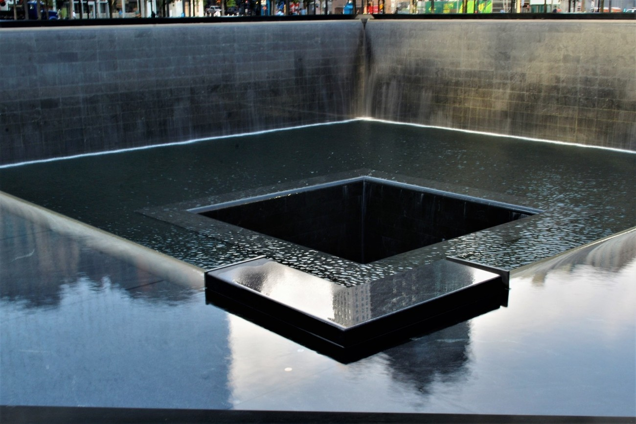 Monument to those who died on 9/11 on the attack to the World Trade Center in New York City.  I had friend's family who died there that day, and it was devastating to all who love New York.
