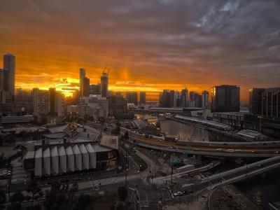 Melbourne Sunrise HDR from Docklands