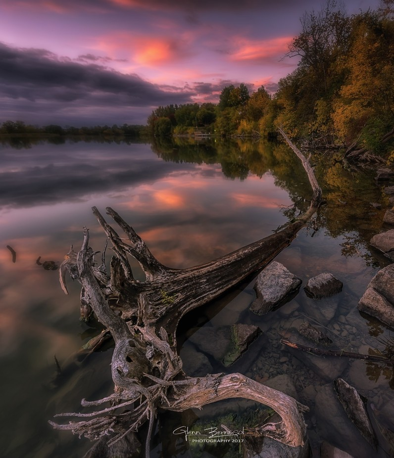 Autumn sunset by glennbernasol - Fallen Trees Photo Contest