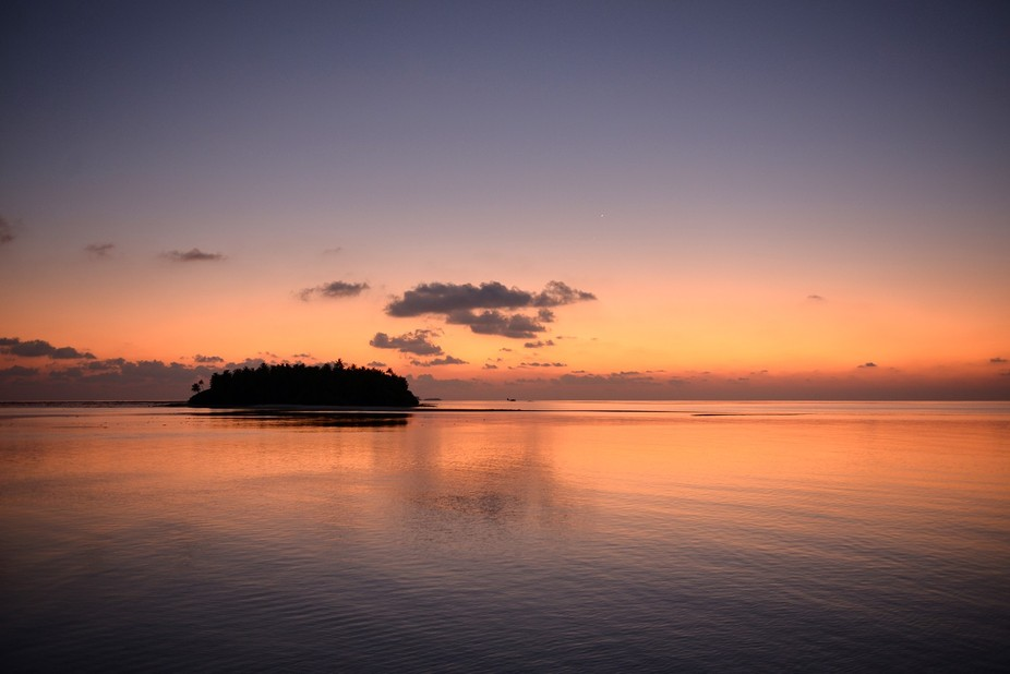 A wonderful sunset over one of the many Maldivian atolls