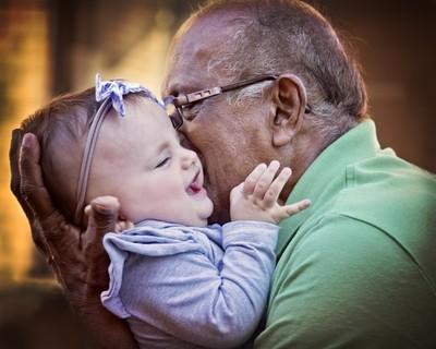 Indie Loves Great-Grandpa
