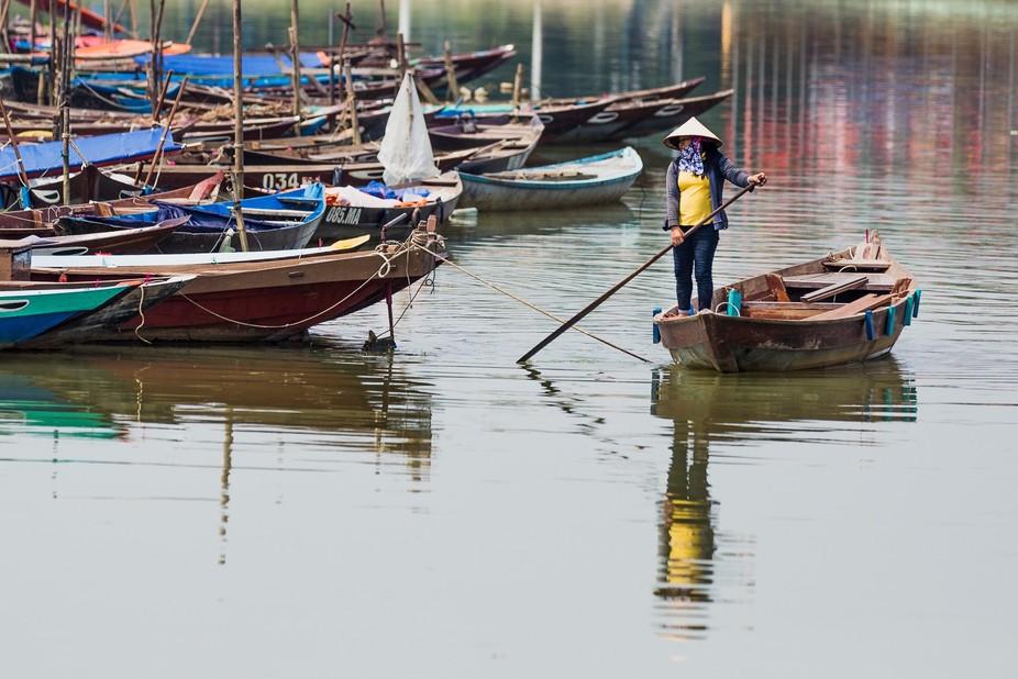 Boatladyreflection