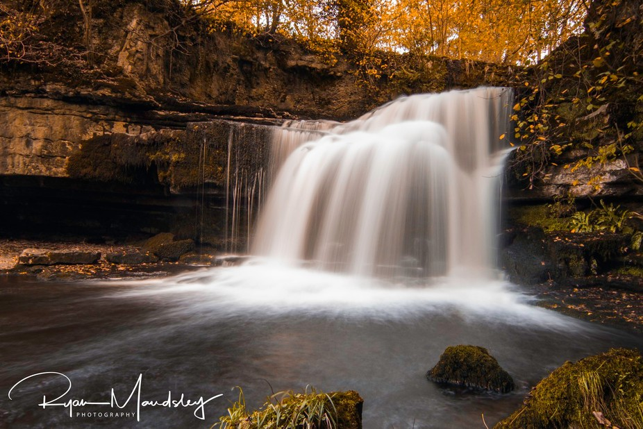 A walk up the river footpath at West Burton led me to this wonderful waterfall, filled with layer...
