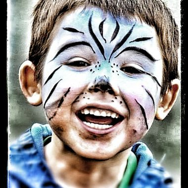 Face painted boy.