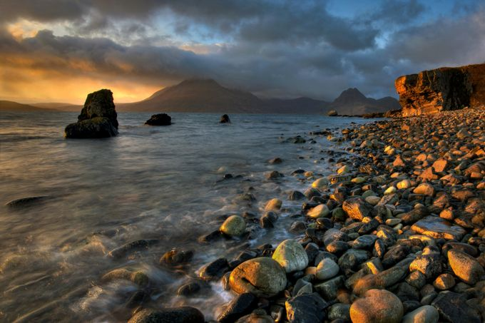 Golden Light At Elgol by MarciaM - Sunrise Or Sunset Photo Contest