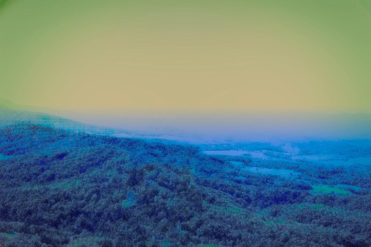 Sundown in the Smokey Mountains.