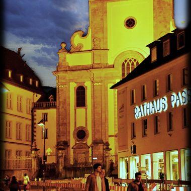 Paderborn by night.