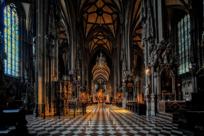 Inside St. Stephen's Cathedral in Vienna by ChristerW - Covers Photo Contest Vol 43